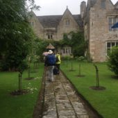 Arriving at Kelmscott Manor