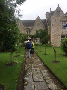 Arriving at Kelmscott Manor